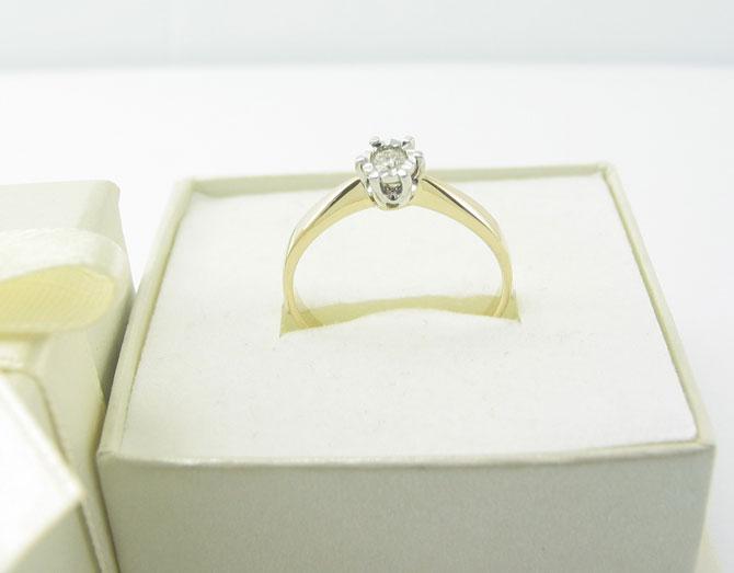 Pierścionek Zaręczynowy Diamor Z168 011ct